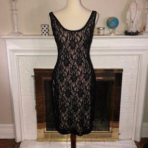 🌹Lauren Ralph Lauren black lace sequin nude